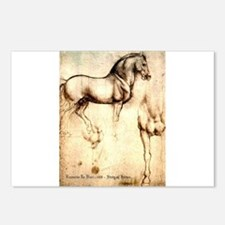 Leonardo da Vinci Study of Horses Postcards (Packa