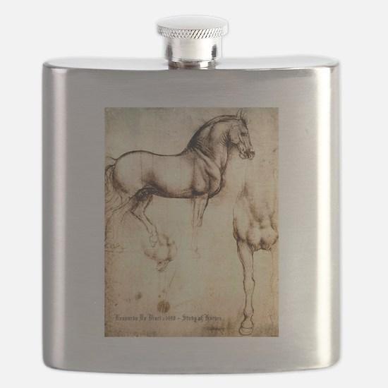 Leonardo da Vinci Study of Horses Flask