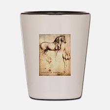Leonardo da Vinci Study of Horses Shot Glass