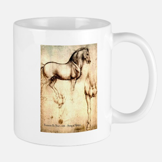 Leonardo da Vinci Study of Horses Mugs
