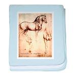 Leonardo da Vinci Study of Horses baby blanket