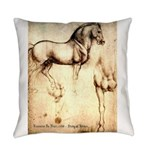 Leonardo da Vinci Study of Horses Everyday Pillow