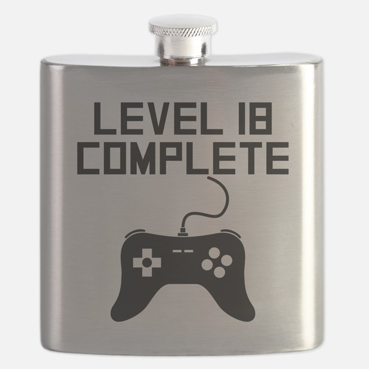 Level 18 Complete 18th Birthday Flask