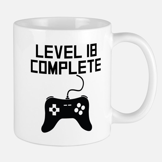 Level 18 Complete 18th Birthday Mugs