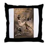 Absinthe Liquor Throw Pillow