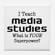 media studies Tile Coaster