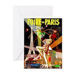 Foire De Paris Vintage Travel Poster Greeting Card