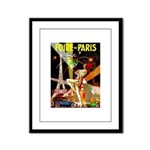Foire De Paris Vintage Travel Poster Framed Panel