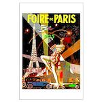 Foire De Paris Vintage Travel Poster Poster