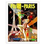 Foire De Paris Vintage Travel Poster Small Poster
