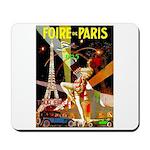 Foire De Paris Vintage Travel Poster Mousepad