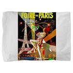 Foire De Paris Vintage Travel Poster Pillow Sham