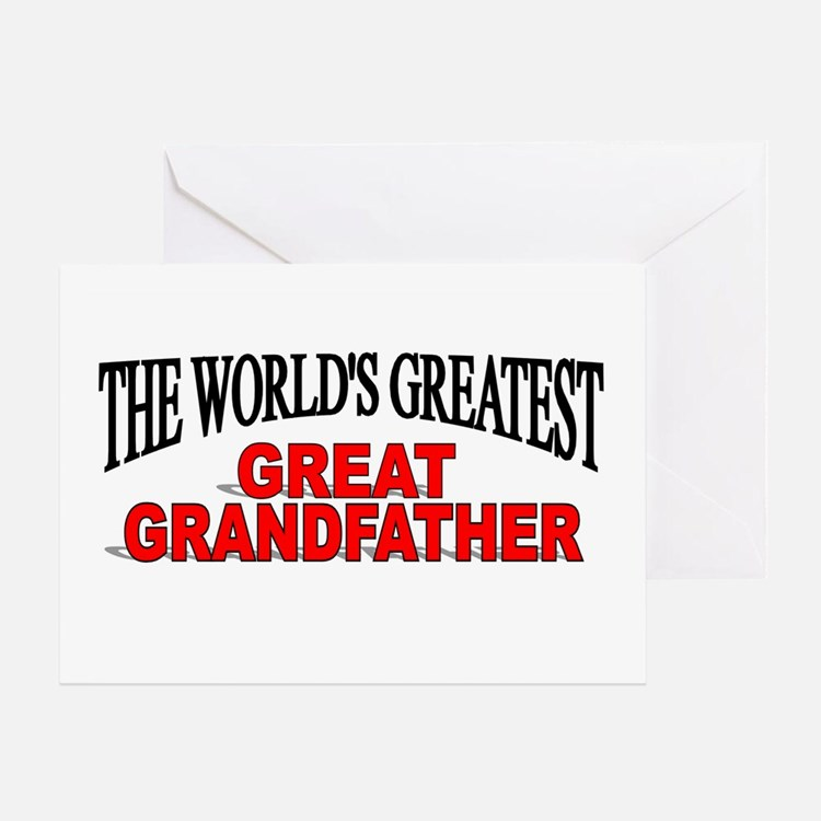 """""""The World's Greatest Great Grandfather"""" Greeting"""
