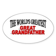 """The World's Greatest Great Grandfather"" Decal"