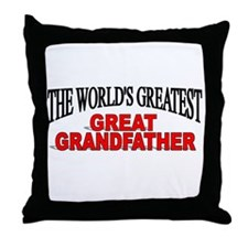 """""""The World's Greatest Great Grandfather"""" Throw Pil"""