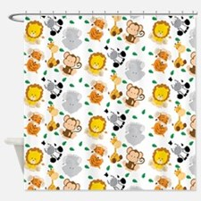Baby Safari Animals Pattern Shower Curtain