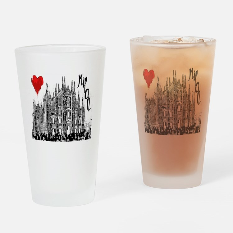 Cute I love cities Drinking Glass