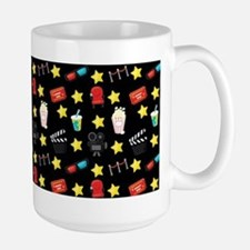 Movie Themed Items Pattern Mugs