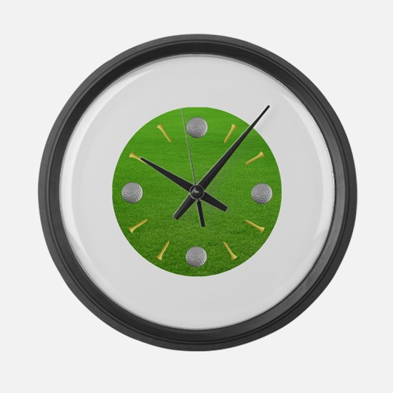 Cute Golfer Large Wall Clock