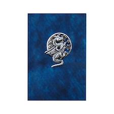 Moon Dragon Rectangle Magnet