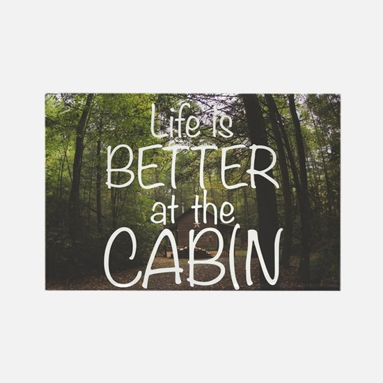 Cute Cabin woods Rectangle Magnet