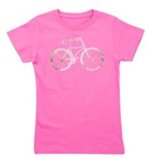 Cute Pink bike Girl's Tee