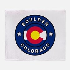 Boulder Colorado Throw Blanket