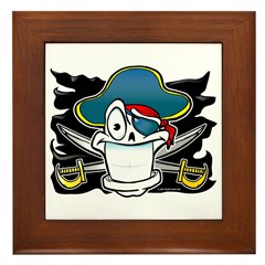 Truely Jolly Roger Framed Tile