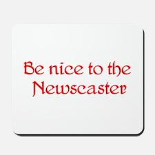 Newscaster Mousepad