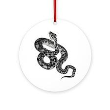 Snake Art Illustration Ornament (Round)