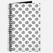 Black Spirals Pattern Journal