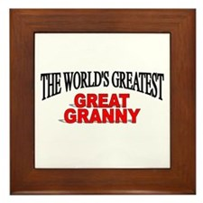 """The World's Greatest Great Granny"" Framed Tile"