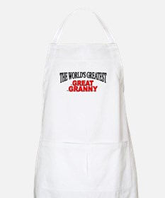 """""""The World's Greatest Great Granny"""" BBQ Apron"""