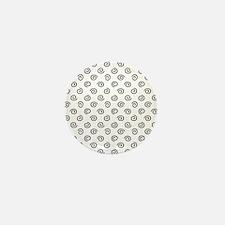 Black Spirals Pattern Mini Button