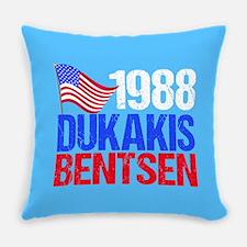 Dukakis 1988 Election Vintage Everyday Pillow