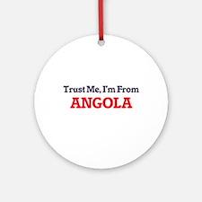 Trust Me, I'm from Anguilla Round Ornament