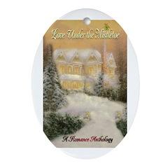 Love Under the Mistletoe Oval Ornament