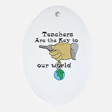 Teacher Appretiation Oval Ornament