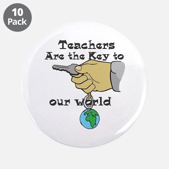 "Teacher Appretiation 3.5"" Button (10 pack)"