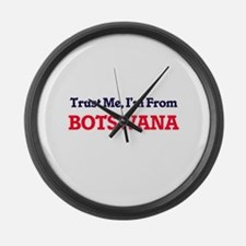 Trust Me, I'm from Brazil Large Wall Clock