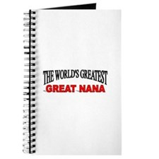 """The World's Greatest Great Nana"" Journal"