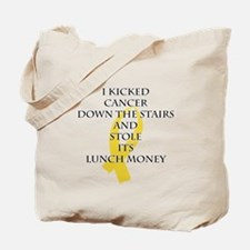 Cancer Bully (Gold Ribbon) Tote Bag
