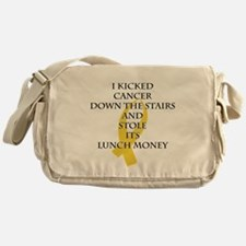 Cancer Bully (Gold Ribbon) Messenger Bag