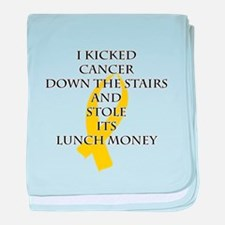 Cancer Bully (Gold Ribbon) baby blanket