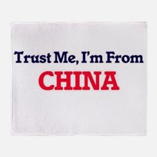 Trust Me, I'm from China Throw Blanket
