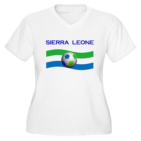 TEAM SIERRA LEONE WORLD CUP Women's Plus Size V-Ne