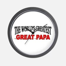 """The World's Greatest Great Papa"" Wall Clock"