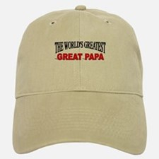 """The World's Greatest Great Papa"" Baseball Baseball Cap"