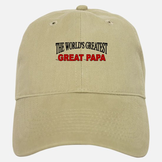 """The World's Greatest Great Papa"" Baseball Baseball Cap"