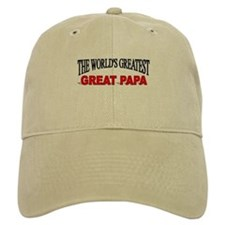 """The World's Greatest Great Papa"" Baseball Cap"